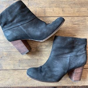 Cole Haan Leather Heeled Booties Ankle Boots 8.5